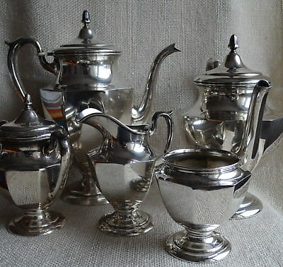 M. Fred Hirsch Sterling Silver Tea Coffee Set 5pc