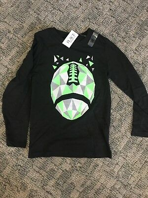 New The Childrens Place Boys Size 5T Black Long Sleeve Shirt