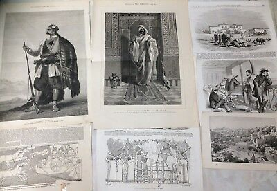 Collection of Original Antique Victorian Prints. Egypt and Middle East. (A1)