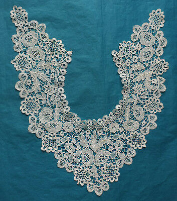 Antique Honiton lace collar / dress front