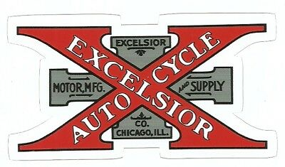 EXCELSIOR  MOTORCYCLE Sticker Decal