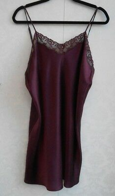 Beautiful Nordstrom deep aubergine pure silk slip XL 16-18 never worn