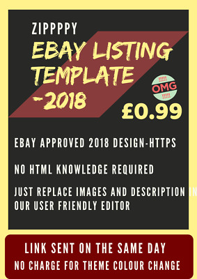 eBay Listing Template HTML Professional Mobile Responsive Design 2018 SALE
