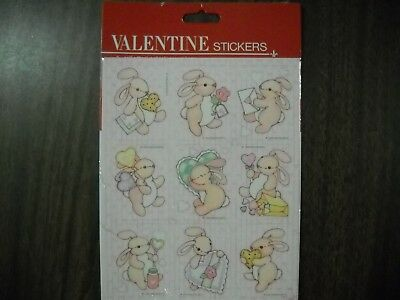 Vintage Gibson Sticker  Pack 1980/'s 1990/'s Valentine Mickey 3 Sheets per Package