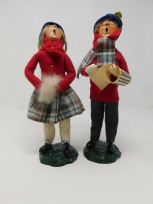 Byers Choice Vintage 1982 Bumpy Base Children Carolers Brother Sister Lot