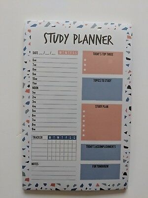 Magnetic Monday - Sunday Weekly Study Planner Pad 23cm x 14.5cm