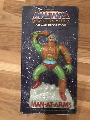 Motu Masters of the Universe Man at Arms 3D Wall Decoration  1984 Ovp Moc