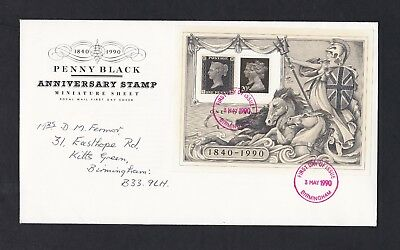 GB. Penny Black Anniversary Sheet - First Day Cover 1990.    LOOK!
