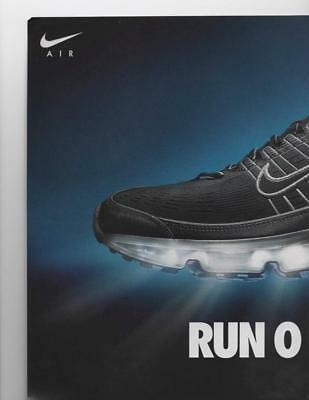 """Nike Air Max 2 Page Print Ad """"run On Air."""" Nike Ads Great To Collect Or Frame!"""