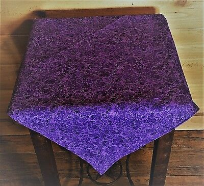 """Altar Tarot Cloth Purple with Sparkels - apx 22"""" x 22"""" Reversable"""