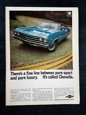 1968 Chevrolet Chevy Chevelle SS 396 - Original Vintage Full Page Color Ad