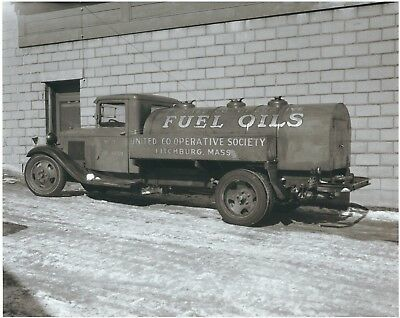Photograph of an Antique Fuel Oil truck advertising United CO-OP, Fitchburg, MA