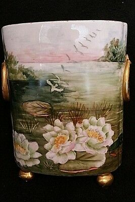 "Guerin Limoges France 1891+, Large size 11"" Tall ""Cachepot"""