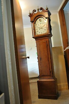Antique 8-Day Longcase Clock Grandfather Clock. All Original and Working.