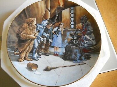 """1992 Knowles Wizard of Oz - I'm Melting.  Plate 8 1/4""""  5283A"""
