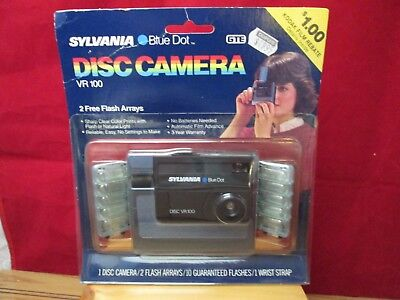 Vintage Disc Camera Sylvania Blue Dot VR100 Unused in Original Package 1980s