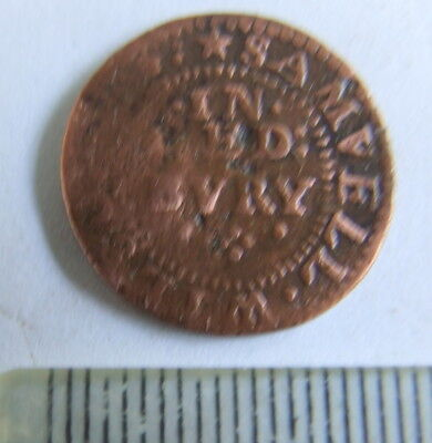 Unusual 17th Century Halfpenny Traders Token (Joint Issuers) Detector Find