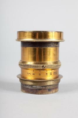 "Vintage ~ Unnamed Brass Lens ""f8 -64"""