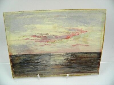 Antique early 20th century English School watercolour painting seascape scene