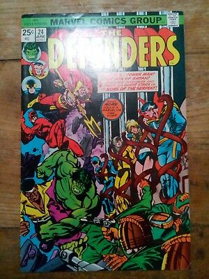 The Defenders No, 24 1975 FN- Cents Cover Price