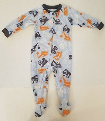 Child Of Mine By Carter's Blue Dump Truck LS Footed Fleece Pajamas 18 Months