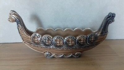 Vintage...collectable...wade..viking Style Ship Vase..dish..wade