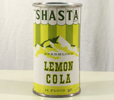 Shasta Lemon Cola Pre-Zip Flat Top Soda Can San Francisco California Ca Hasta Be