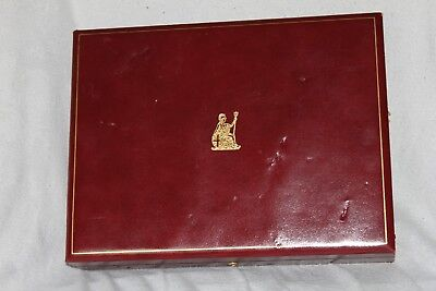 HM QUEEN STERLING SILVER - STAMPS OF ROYALTY INGOTS SET EMPTY BOX - Poor Cond