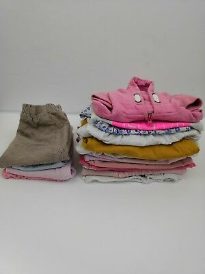 Next Zara Baby Girls Small Bundle Pink Dresses Tops Jeans 9-12 Months 21 Pieces