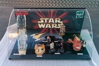 Star Wars - Episode 1 - Hasbro Display - Obi Wan - Kampfdroide - Jar Jar Binks