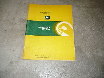 John Deere operators manual 850 950 tractor