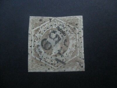 NSW Stamps: 6d Brown Watermark doubled line number  Free Post  (j26}