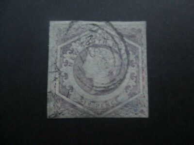 NSW Stamps: 6d Violet Watermark doubled line number  Free Post  (j27}
