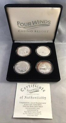 Limited Silver Edition Four Winds Casino Resort Tokens New Buffalo New York