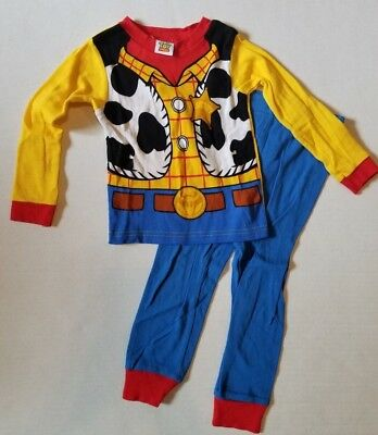Disney Pixar Toy Story Sheriff Woody 2 Piece Snug Fit Long Sleeve Pajamas Boy 3T