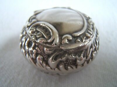 Victorian Solid Silver Pill Box by Levi and Salaman.  1900