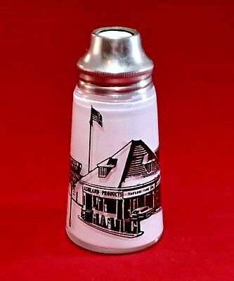 Advertising -TAYLOR TIRE CO- Clear Glass - Salt Shaker - Store Scene 1935-1940's