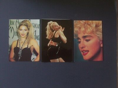 MADONNA 2 COLOUR POSTCARDS AND ONE PHOTO 7 x 5 INCHES