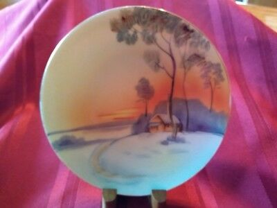 Vintage Meito China hand painted 6 3/8 inch bread & butter plate, made in Japan