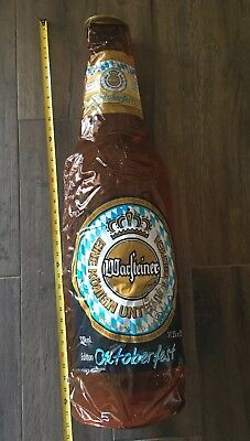 Warsteiner Oktoberfest Inflatable Beer Bottle German Blow Up Oversize