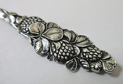 Antique Sterling Silver Spoon Clover Flowers