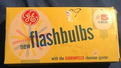 GE #5 Infrared Flashbulbs NOS 1 package With 8 Bulbs Remaining