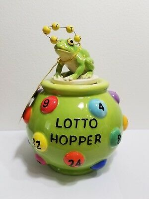 """Westland Giftware """"Lotto Hopper"""" Fanciful Frogs #11969 New with Box"""