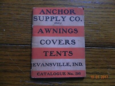 Anchor Supply Co. Evansville,ind Catalog Very Old