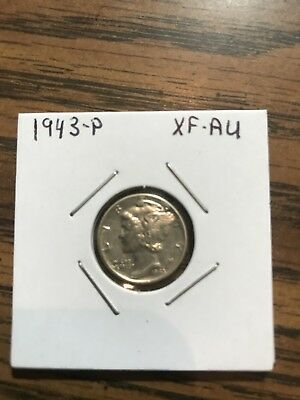 1943-p Mercury Head Dime High Grade XF/AU