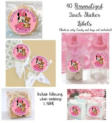 birthday goody bag 40 Power Puff Girls Personalize STICKERS for Lollipops