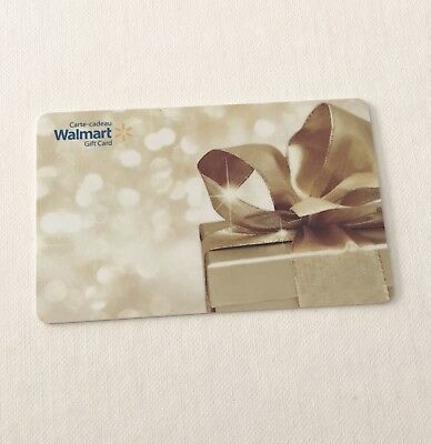 WALMART Gift Card ZERO $ BALANCE, Gold Present Gift, No Value, Wal-Mart