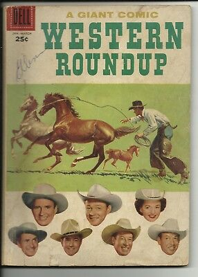 Western Roundup #17 - Dell Giant Comic - Silver Age Western - GD+ 2.5 -