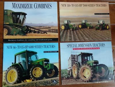 4 John Deere Sales Brochures Tractors and Combine EXCELLENT CONDITION