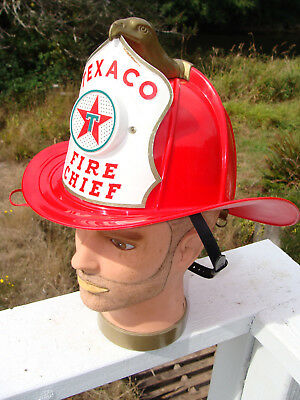 Vintage 1960's Texaco Fire Chief Hat Helmet Microphone Toy Great for Halloween